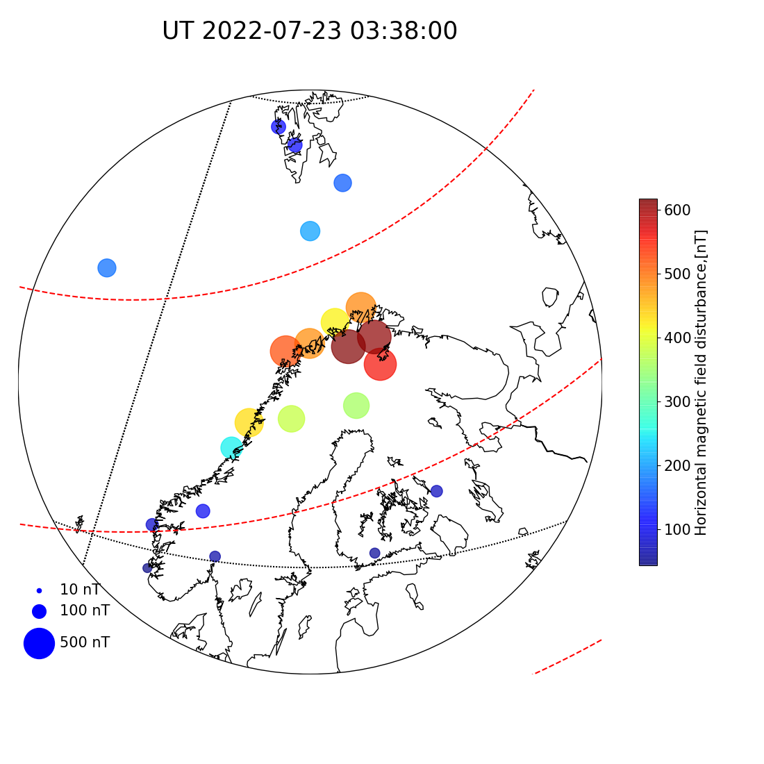 Real-time geomagnetic activity